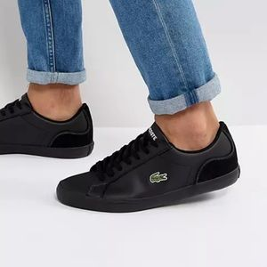 Lacoste Lerond leather Sneakers in Black size 10